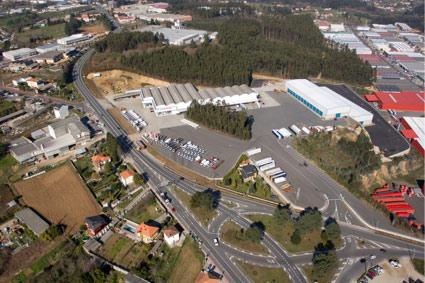 Vista de las instalaciones del grupo Manuel Rey en Bergondo